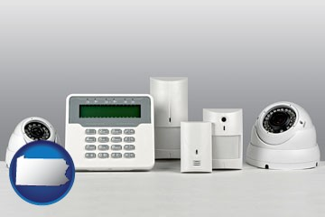 home alarm system - with Pennsylvania icon